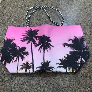 Avon Tropical Print Beach Tote Bag
